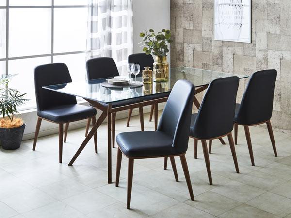 【送料無料】横幅140 ダイニングテーブル のみ(チェア無) 強化ガラステーブル シック 北欧 モダン 昇降 テーブル   家具 通販