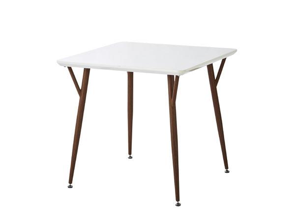 80 パーティーテーブル ダイニング リビング 3点セット シック 北欧 モダン テーブル ガラステーブル ガラス ダイニングテーブル ホワイト ブラウン 白 茶 3点セット 5点セット テーブルのみ 正方形 5点 3点 【送料無料】