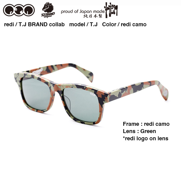 REDI+T.J BRAND Collaboration Sunglass redi camo / レダイ+ティー・ジェイ ブランド コラボ サングラス