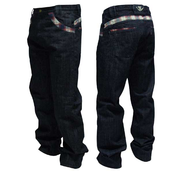 Check Denim Pants one by one clothing チェック デニム