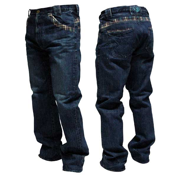 Check Denim Pants one by one clothing チェック デニム SB