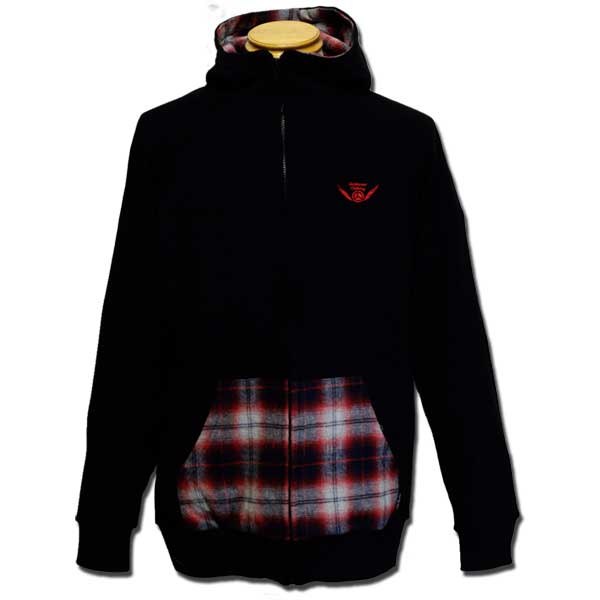 Check Zip Parka ブラック one by one clothing 09Winter