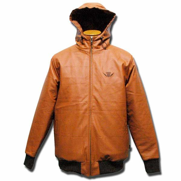 Dot Leather Parka ブラウン one by one clothing