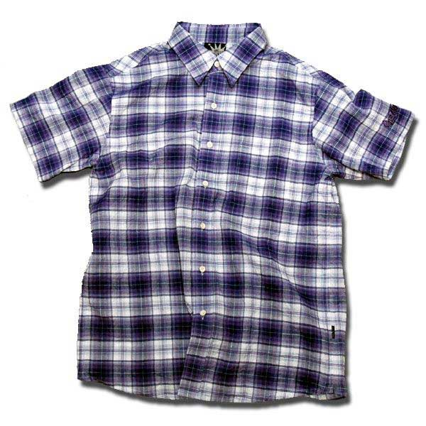 Check Shirts パープル one by one clothing