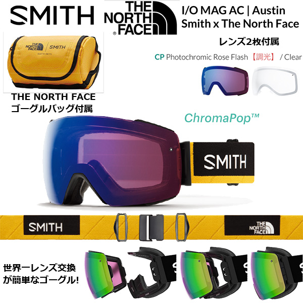 本物 SMITH 2018-2019model GOGGLE I/O MAG AC | MAG Austin Smith North x The North Face 2018-2019model レンズ2枚付属, 輸入ビールと洋酒のやまいち:778be493 --- clftranspo.dominiotemporario.com