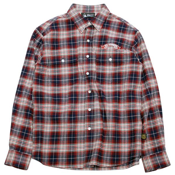TWELVE 12 Flannel Shirts Navy-Red トゥエルブ フランネル チェックシャツ