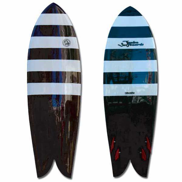 TWELVE Surfboards Quad Model Zebra 5'8