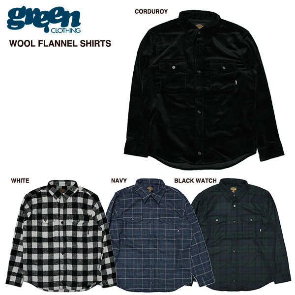 green clothing Wool Flannel Shirts / グリーン クロージング 2016-2017モデル