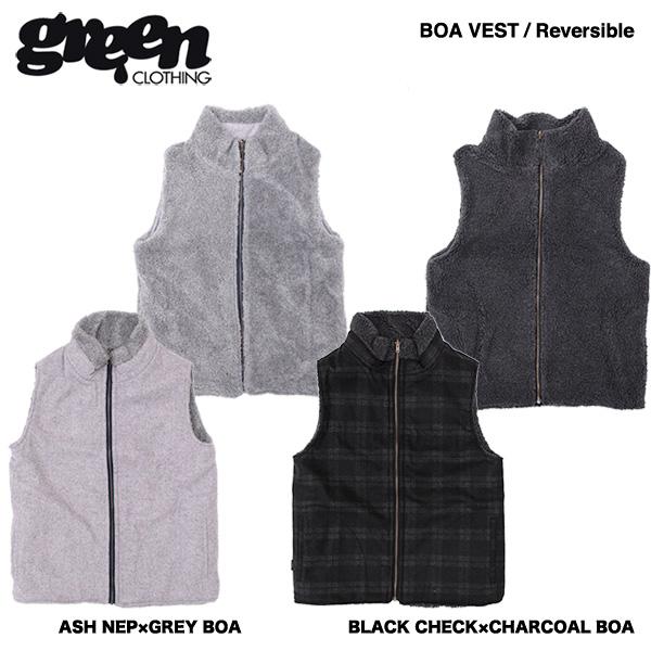 green clothing BOA Vest / グリーン クロージング ボアベスト 2017-2018モデル