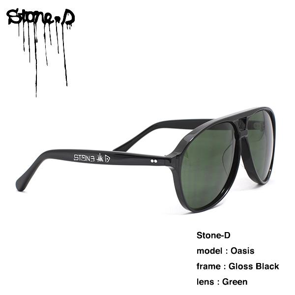 Stone-D Oasis Gloss Black Green Lens / ストーンD オアシス