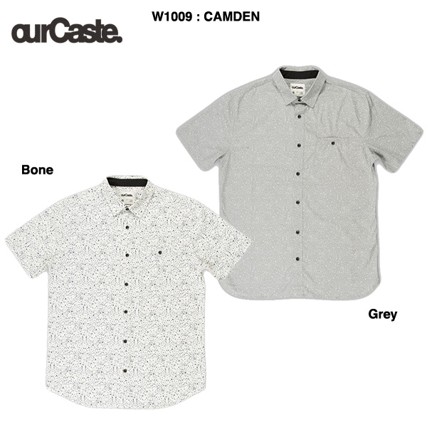 ourCaste CAMDEN short sleeve shirts W1009 / アワーキャスト 半袖シャツ:bussel store