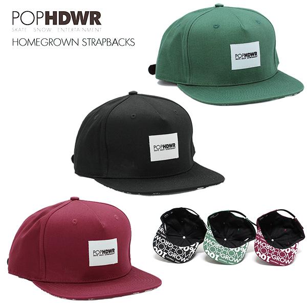POP HEADWEAR Homegrown Strapbacks / ポップヘッドウエア
