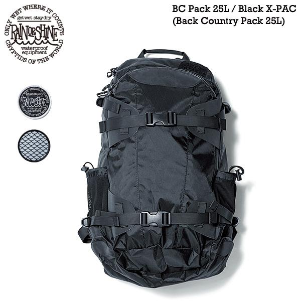 RAIN OR SHINE BC Pack 25L Black X-PAC / バックカントリーバックパック