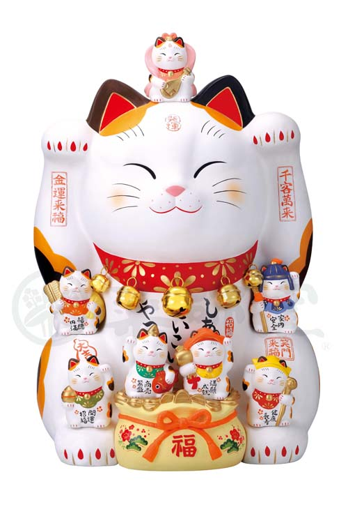 錦彩 七福神招き猫(20号)7500