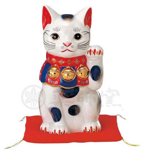 染錦 招き猫(9号) 7751