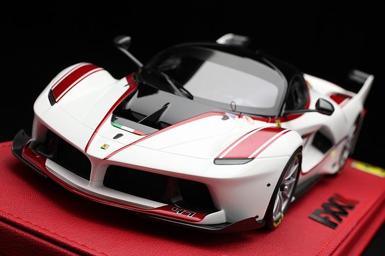 【平日即日発送可能】BBR 1/18 ラフェラーリ FXX K Italia white / red stripes - car no. 47 Laferrari ferrari P18119A モデルカー ミニカー 送料無料