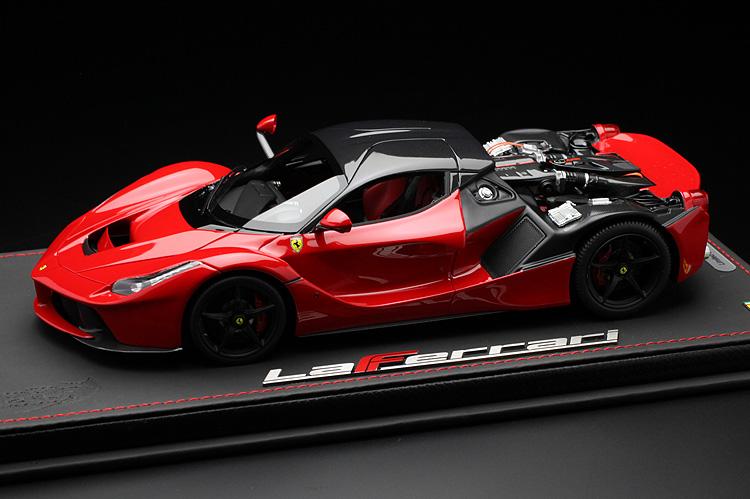 【平日即日発送可能】BBR 1/18 ラフェラーリ リアフード脱着可能 laferrari red/carbon fiber roof P1867OPEN モデルカー ミニカー 送料無料