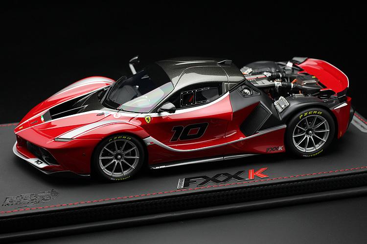 【平日即日発送可能】BBR 1/18 ラフェラーリ FXX K リアフード脱着可能 Rosso Tristrate car no.10 Laferrari ferrari P18119OPEN 2001500101240 モデルカー ミニカー 送料無料