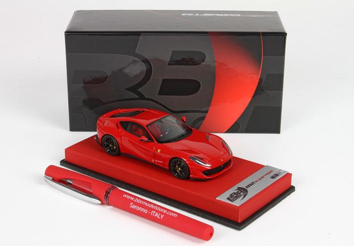 【平日即日発送可能】フェラーリ BBR 1/43 812 Superfast rosso Corsa 322 ペン付き CAR 13 ferrari モデルカー ミニカー 送料無料