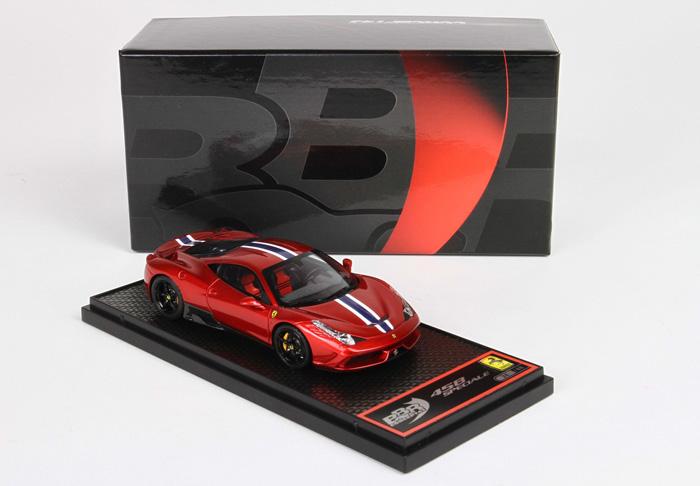 【平日即日発送可能】BBR 1/43 フェラーリ 458 Speciale Rosso Fuoco BBRC132RF ferrari モデルカー ミニカー 2001500101622 送料無料