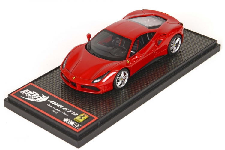 Ferrari 488 GTB  Met Rosso Corsa 322 LIMITED EDITION 24 Pc.1//43 BBR