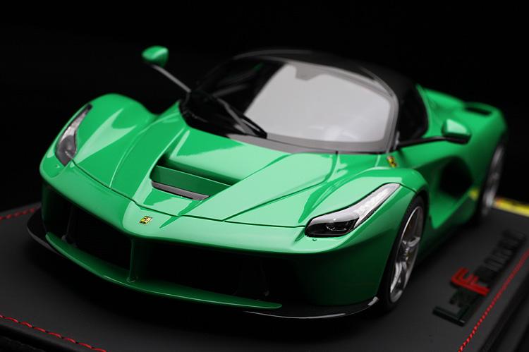 【平日即日発送可能】BBR 1/18 ラフェラーリ laferrari green/carbon fiber roof P1867GREEN 稀少シリアル(32/32) モデルカー ミニカー 送料無料