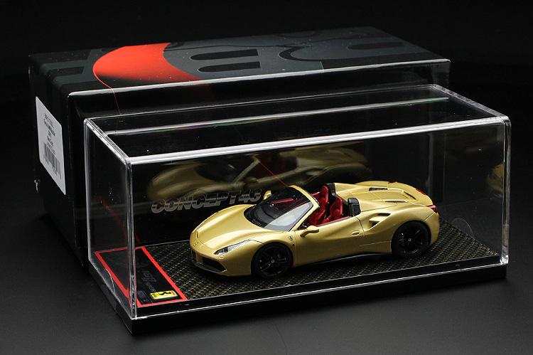 【平日即日発送可能】 BBR 1/43 フェラーリ 488 GTB スパイダー met. Gold BBRC173GOL ミニカー モデルカー 送料無料