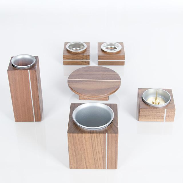 仏具セット 木製 京雅 ウォールナット 6点セット 3.5寸
