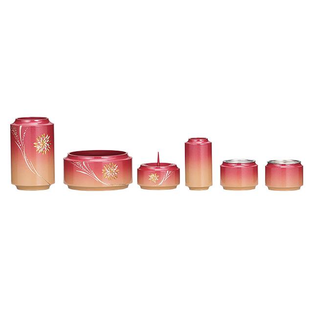 【期間限定ポイント10倍】真鍮製 昴 菊花火彫金入 杏色 6点セット 3.0寸・3.5寸