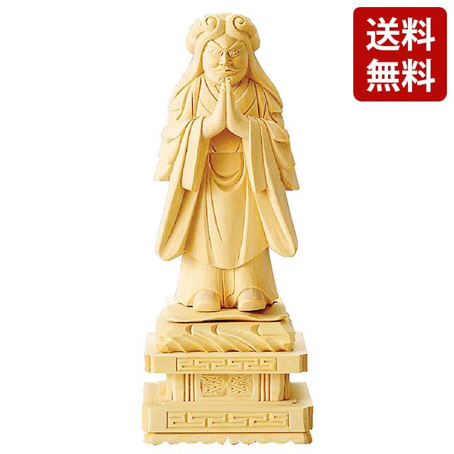 【期間限定ポイント10倍】仏像 総白木 中山鬼子母神 3.5寸~5.0寸