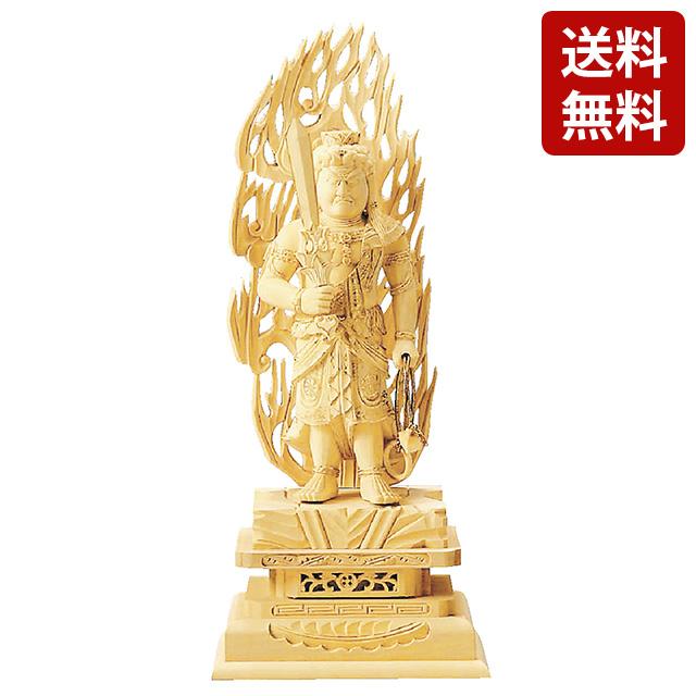【ランキング1位入賞】仏像 総柘植 不動明王 金泥書 3.0寸~6.0寸