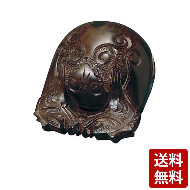 黒檀杢魚 上彫 3.0寸~7.0寸