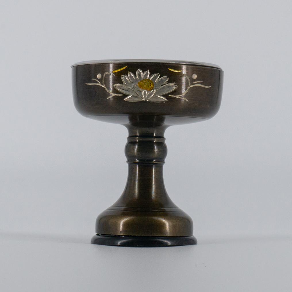 菊彫仏飯器京色 8番 安値 低廉 高7.0直径5.6cm