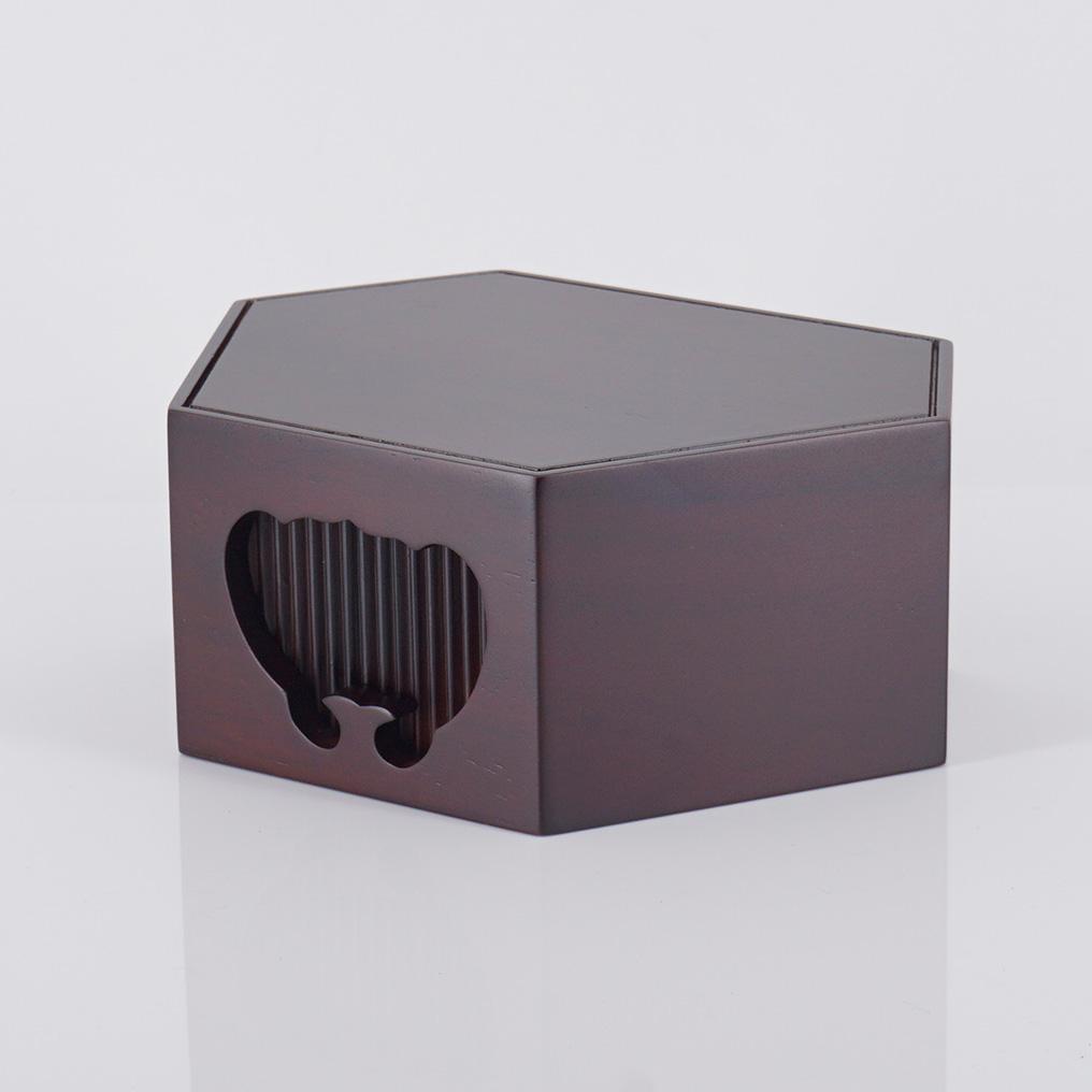 紫檀六角仏像台 当店限定販売 特大 国内在庫 高6.5総巾16.9奥12.7cm