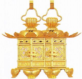 【宗派問いません 仏具】 六角型吊灯籠 神前灯篭(灯籠 灯呂) 1.5寸