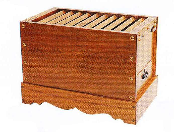 仏具 寺院用 箱型 賽銭箱 栓 引出なし 7.0寸 各宗派