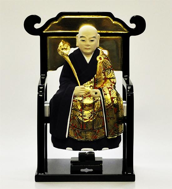 【曹洞宗】 仏像 彩色 常済 ・ 承陽 (太祖 ・ 高祖) 1.5寸