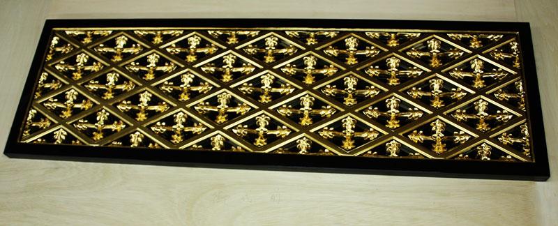 寺院用 仏具 サイズオーダー 菱組 彫物 木製 仏具 菱組 純金箔押 1枚 サイズオーダー, アビコシ:3529e7e1 --- coamelilla.com