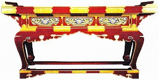 【寺院用 仏具(各宗派)】 春日型前机 4尺