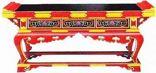 寺院用 仏具(各宗派) 焼香机 春日型 金具なし 2尺 机