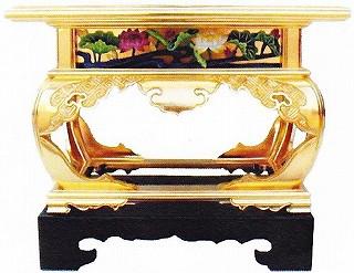 【寺院用 仏具(本願寺派 西)】 掛盤卓 御影堂型 1尺6寸