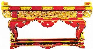 【寺院用 仏具(各宗派)】 須弥型 前机(通彫) 金具打 4尺