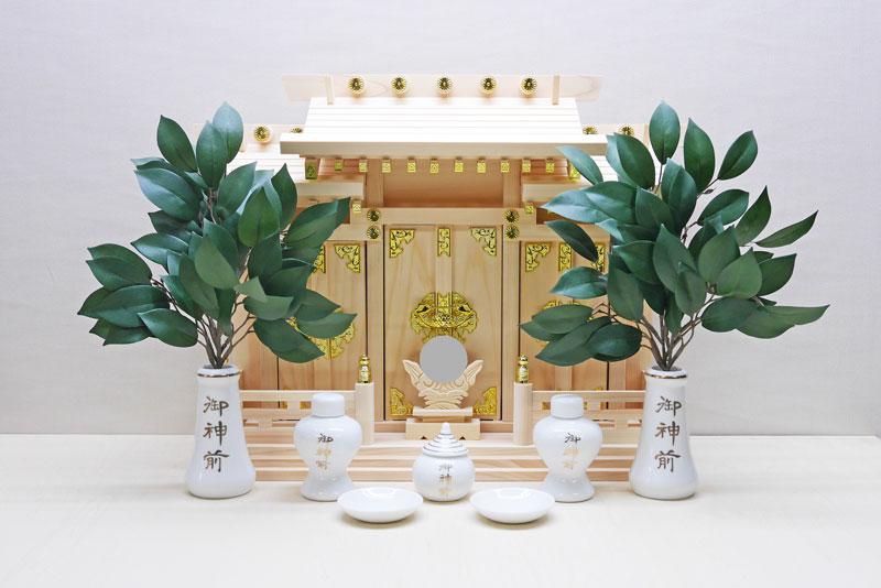 超低床三社 神棚 神具セット 神棚神殿