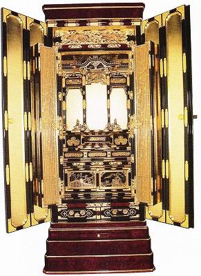 金仏壇 真宗大谷派(東) 京型胴長 二条 彫粉 木出 本山 20号