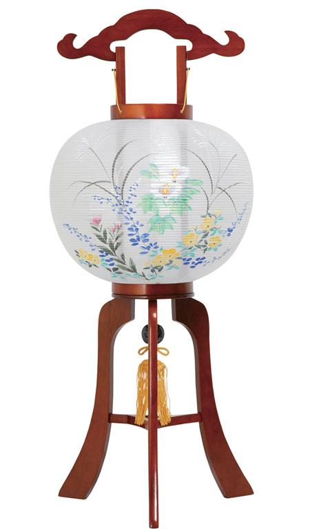 【 提灯 】 天然木 けやき 平 11号 回転 絹張 ケヤキ色塗 【仏具 お盆 お盆用品 灯篭 燈籠 灯籠】 ちょうちん 照明