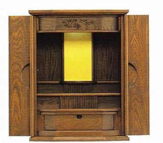 【宗派問いません】 上置 小型 ミニ仏壇 [デージー] 12×16号