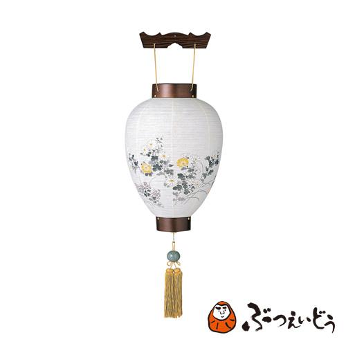 盆提灯 最上神代杉(菊 / LED電池灯付き) / 伝統の岐阜提灯 盆提灯 御所提灯 美濃和紙、杉突板材