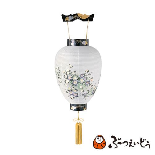 盆提灯 紫小花(アイリス) / 伝統の岐阜提灯 盆提灯 御所提灯 和紙、プラスチック