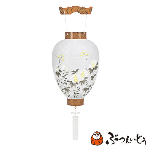 盆提灯 別撰木目P(芙蓉・描き絵) / 伝統の岐阜提灯 盆提灯 御所提灯 和紙、プラスチック