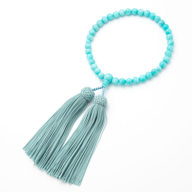 数珠・女性用 アマゾナイト 7mm 念珠